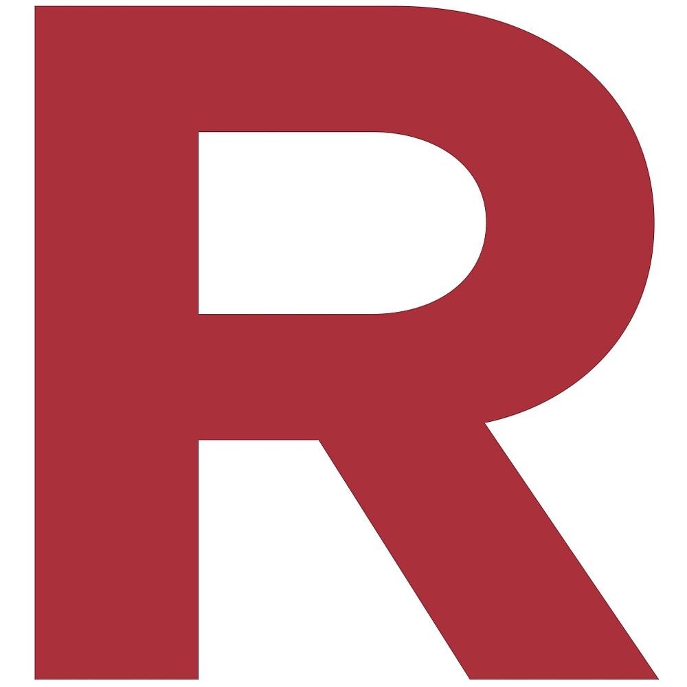 Team Rocket inspired 'R' by adamlanningmoly