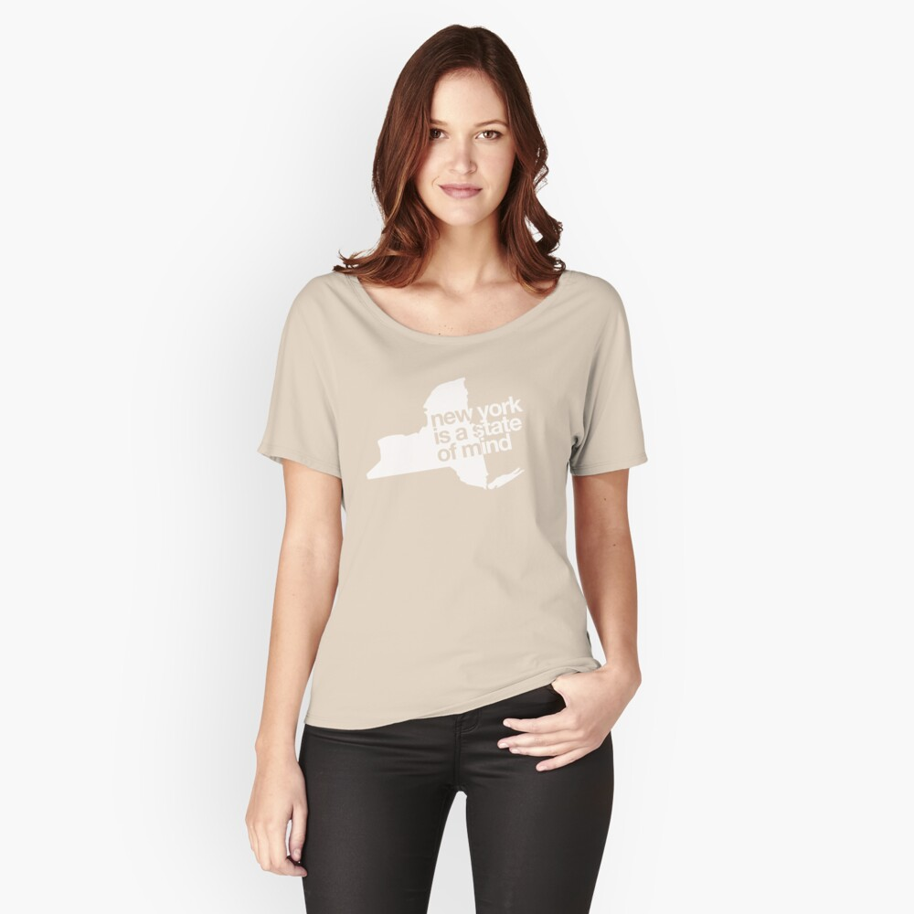 New York is a state of mind - Big - White Women's Relaxed Fit T-Shirt Front