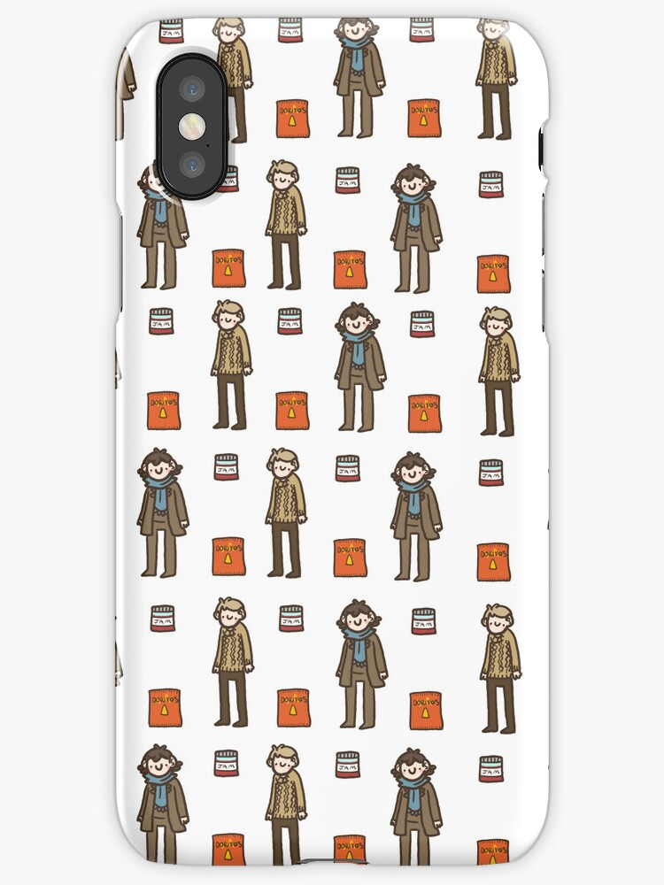 Sherlock Doodle iPhone case by geothebio