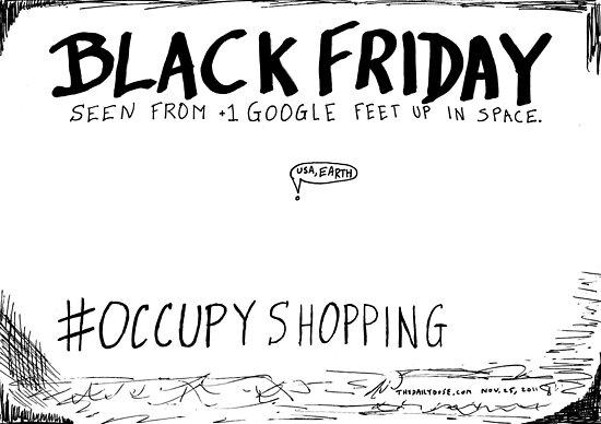 Occupy Shopping cartoon by bubbleicious
