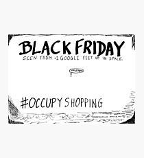 Occupy Shopping cartoon Photographic Print