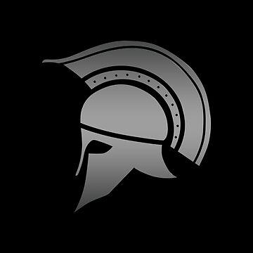 Ancient Greek Spartan Helmet by peculiardesign