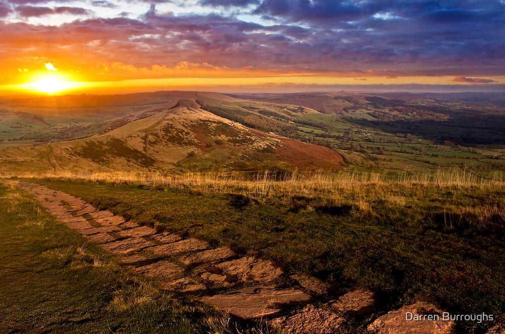Sunrise On Mam Tor Derbyshire by Darren Burroughs