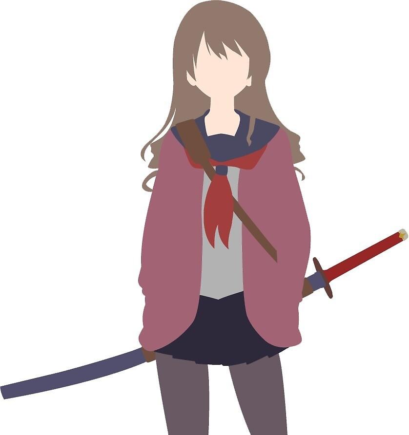 Minimalist Anime Girl  by Muyol