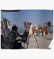 Artwork at the malecon of Puerto Vallarta - Arte en el malecon de Puerto Vallarta Poster