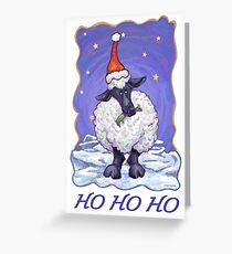 Sheep Christmas Card Greeting Card