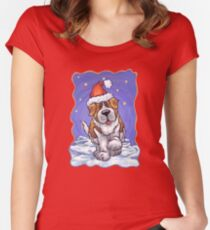 St. Bernard Christmas Women's Fitted Scoop T-Shirt