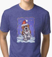 St. Bernard Christmas Tri-blend T-Shirt
