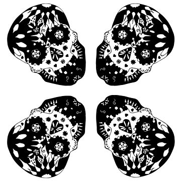 Sugar skull mono by HekimoArt