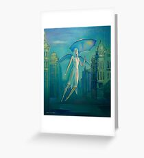 Angel of a rain. Greeting Card