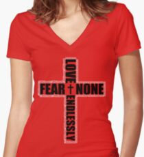 #Whiteout: Love Endlessly Women's Fitted V-Neck T-Shirt