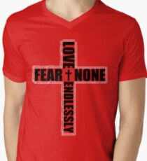 #Whiteout: Love Endlessly Men's V-Neck T-Shirt