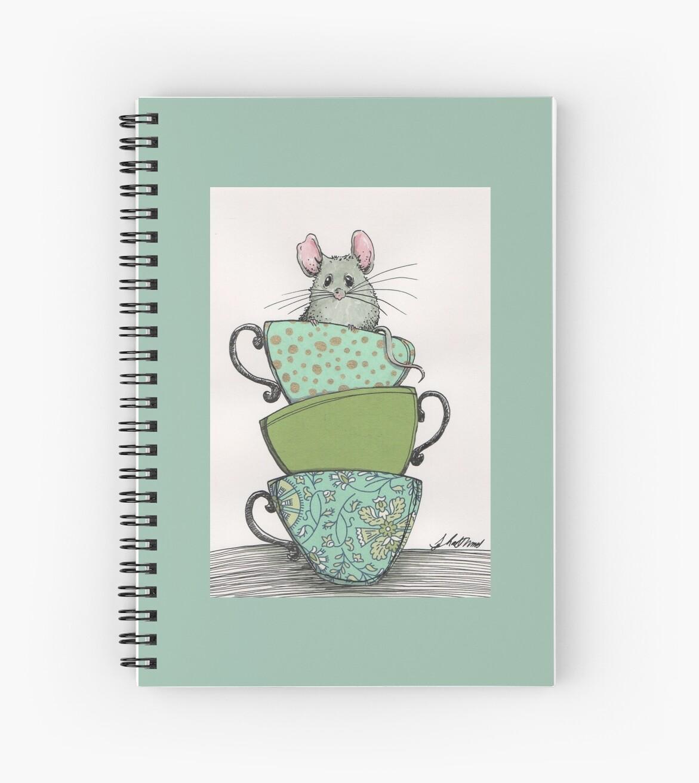 Peek-a-boo (mouse in teacup) by Judit Matthews
