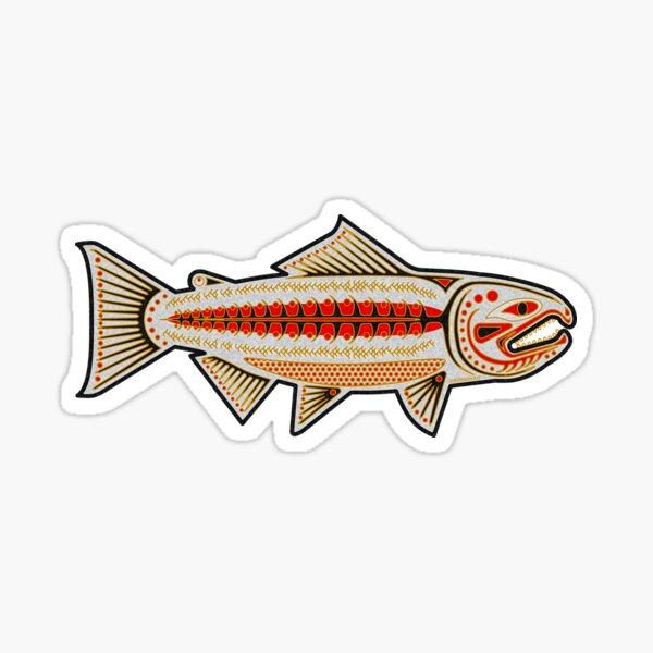 Native Retro Chinook Salmon Sticker
