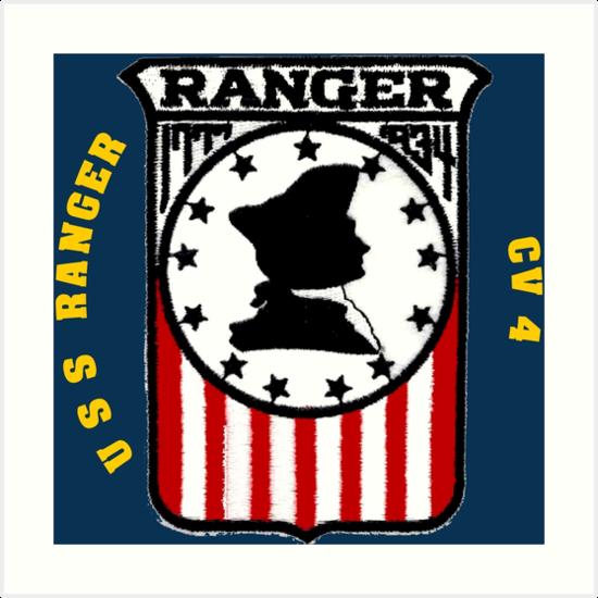'USS Ranger CV-4 for Dark Colors' Art Print by Nikki SpaceStuffPlus