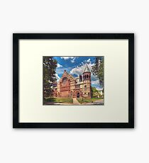 Collage campus, Princeton NJ Framed Print