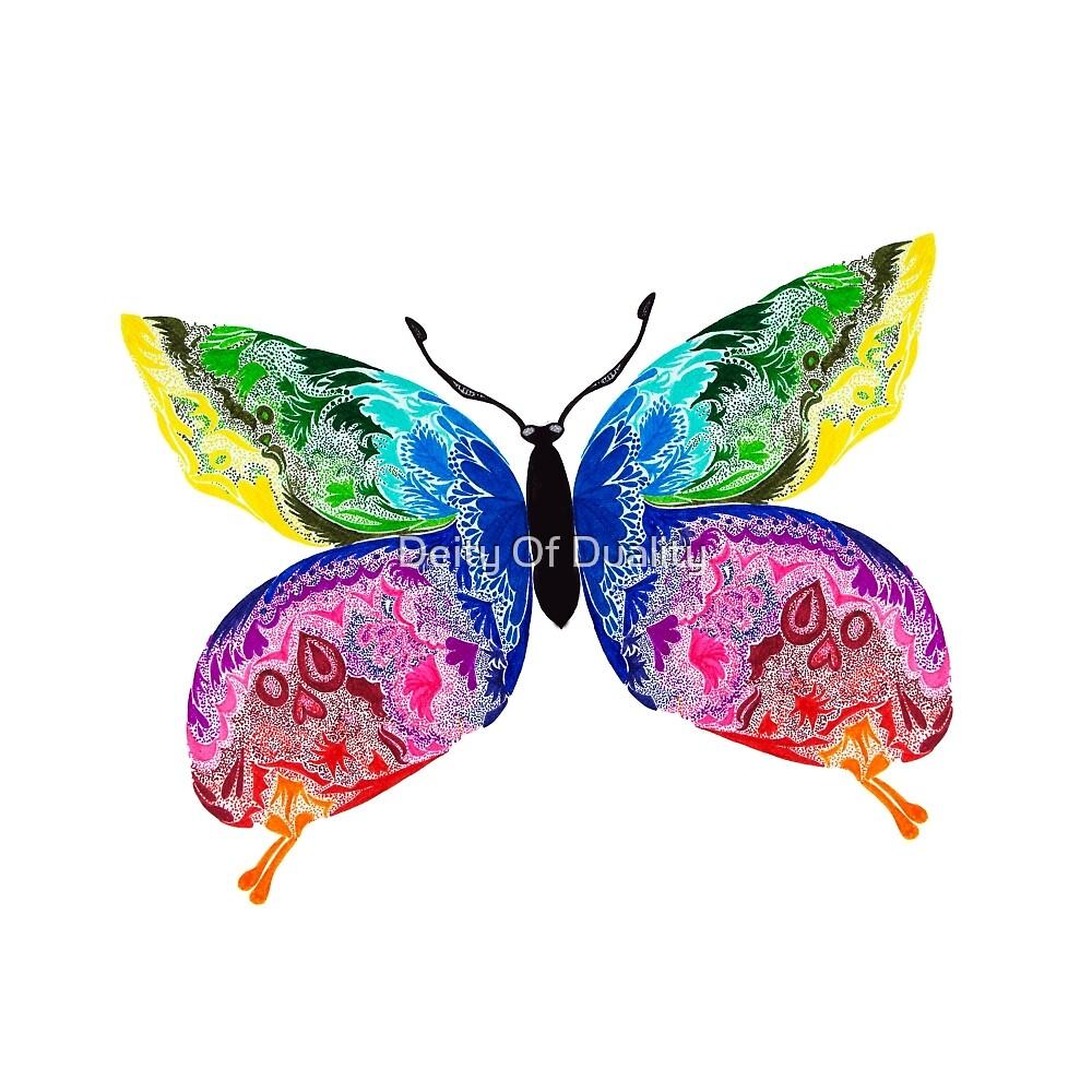 Butterfly Pointillism by EloisaRelish