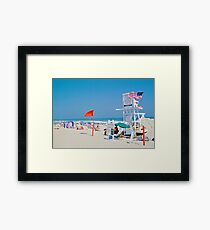 Hamptons Beach Framed Print