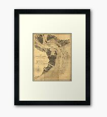 Map of Charleston Harbor South Carolina (1863) Framed Print