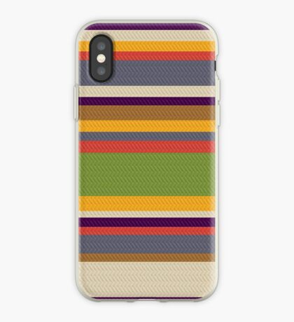 Fourth Doctor Scarf iPhone Case