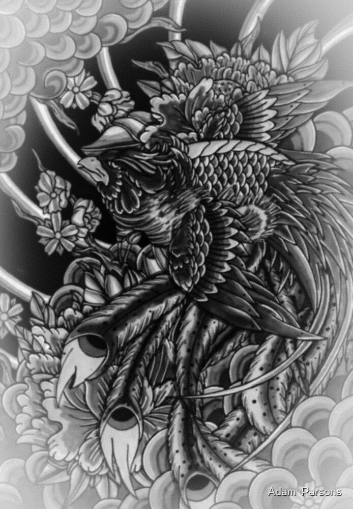 japanese phoenix in wonderland by Adam  Parsons