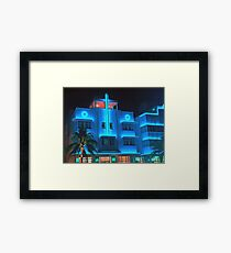 Miami Deco Lights Framed Print
