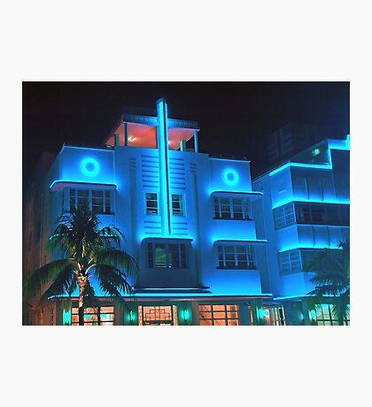 Miami Deco Lights Photographic Print