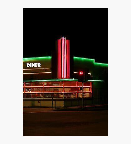 Diner Lights Photographic Print