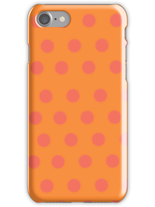 orange polka dots case by rupydetequila