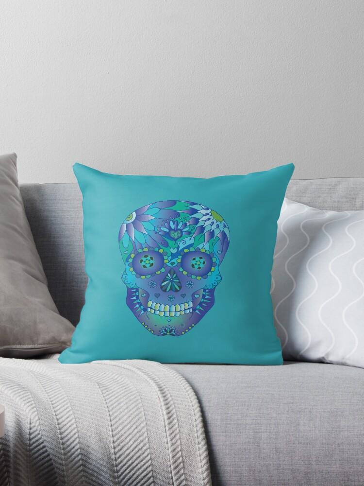 Oceanic Sugar Skull by HekimoArt