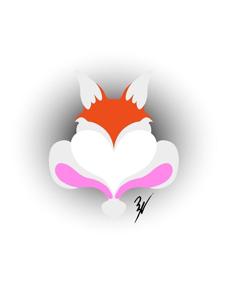 Fox & Bunny Love by LilRebeleneArt
