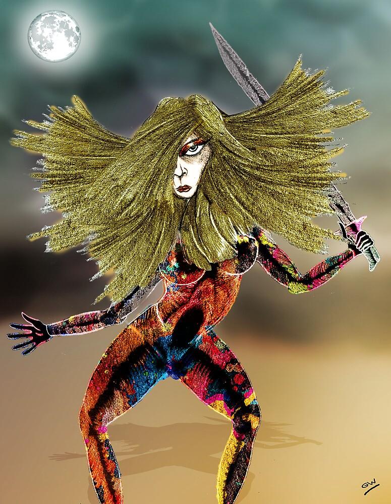Venusian Warrior Woman by Grant Wilson