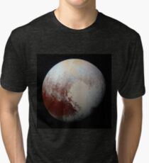 NASA Pluto Color Enhanced Variant 2 Tri-blend T-Shirt