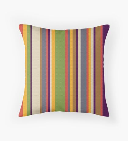 Fourth Doctor Scarf Throw Pillow