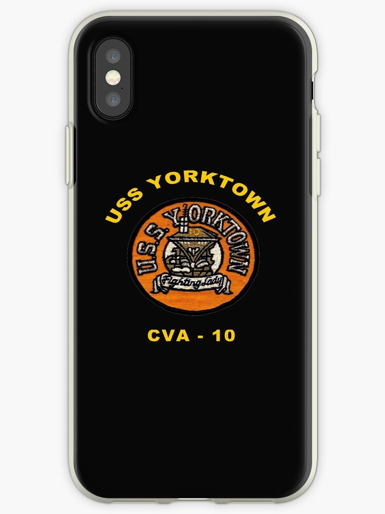 new arrival 9002b 3f152 'USS Yorktown (CV/CVA/CVS-10) Crest for dark backgrounds' iPhone Case by  Nikki SpaceStuffPlus