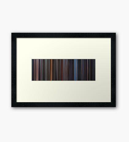 Moviebarcode: Star Wars: Complete Saga (1977-2005) Framed Print