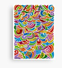 Doodle Fantasy - Brush And Gouache Canvas Print