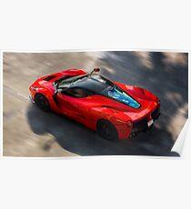 Ferrari LaFerrari in Bewegung Poster