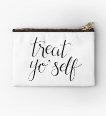 Treat Yo' Self (Black Text) Studio Pouch