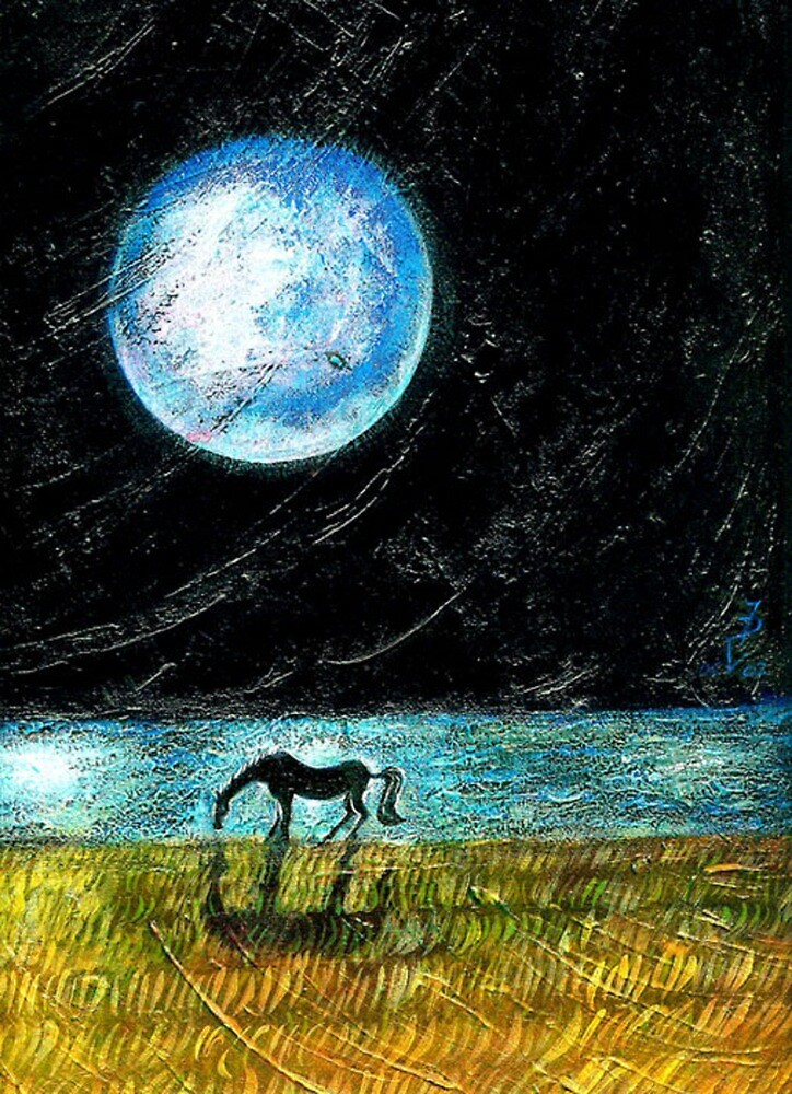 Fool Moon and a Horse by ivDAnu