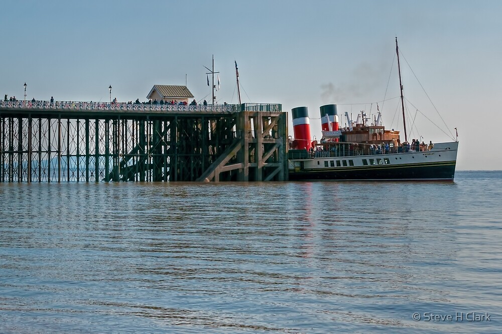 PS Waverley at Penarth Pier by © Steve H Clark