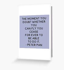 Peter Pan Quote Greeting Card