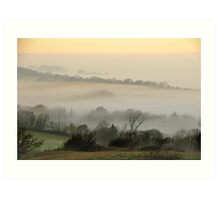 Looking south from the South Downs Way at Washington Art Print