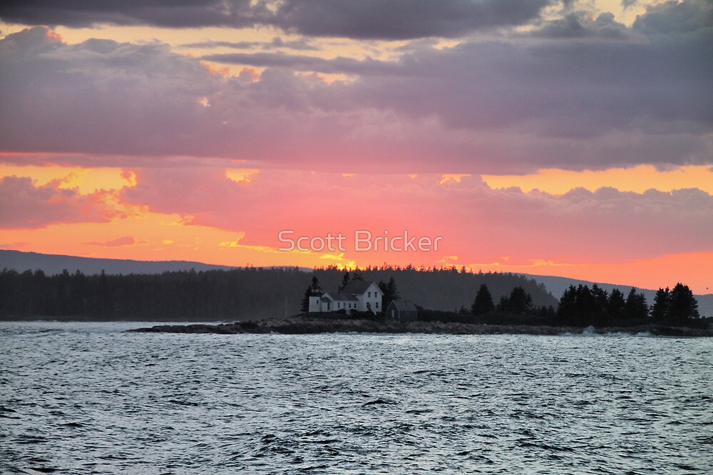 'Lighthouse Beneath a Firey Sky' by Scott Bricker