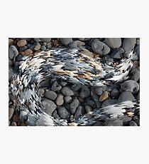 Liquid Pebbles Photographic Print