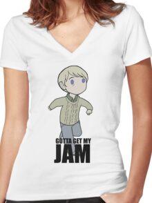 Gotta Get My JAM Women's Fitted V-Neck T-Shirt