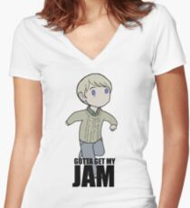 Gotta Get My JAM Women's Fitted V-Neck T-Shirt