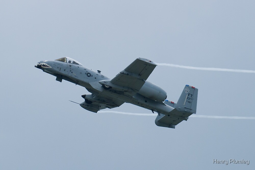 FT AF 81-0967 OA-10A Thunderbolt II Climbs Throwing Vapor by Henry Plumley