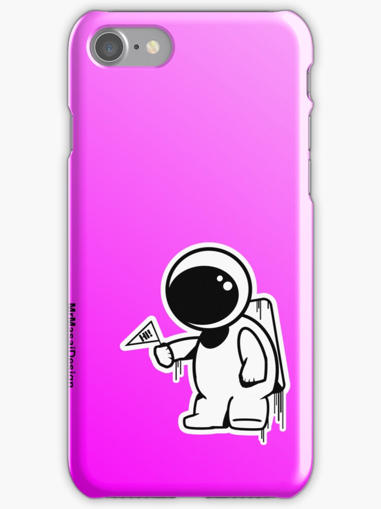Lonely Astronaut - Pink Iphone case by MrMasai