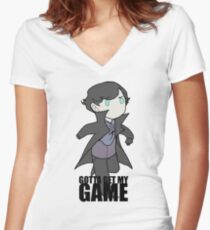 Gotta Get My GAME Women's Fitted V-Neck T-Shirt
